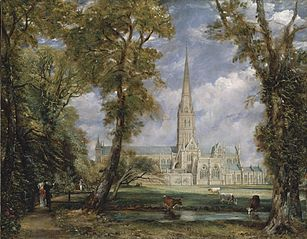 La Cathédrale de Salisbury vues des jardins de l'évêque