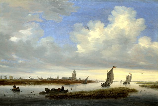"Salomon van Ruysdael, typical View of Deventer Seen from the North-West (1657); an example of the ""tonal phase"". Salomon van Ruisdael Deventer.jpg"