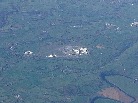 Aerial picture of Samlesbury Aerodrome. (April 2014)