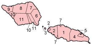 Samoa districts numbered2