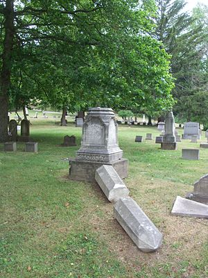 Samuel Stokely - Stokely's tombstone in Steubenville, Ohio