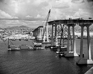 Weeks 533 - Murphy Pacific's Marine Boss at work on the San Diego–Coronado Bridge (c.1968)