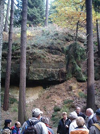 Tharandt Forest - Sandstone faulting near Niederschöna