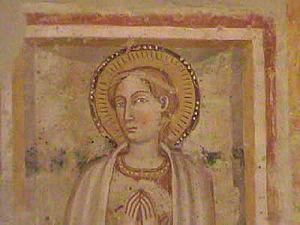 Pudentiana - Saint Pudentiana. From the church of Santa Pudenziana in Narni, Italy.