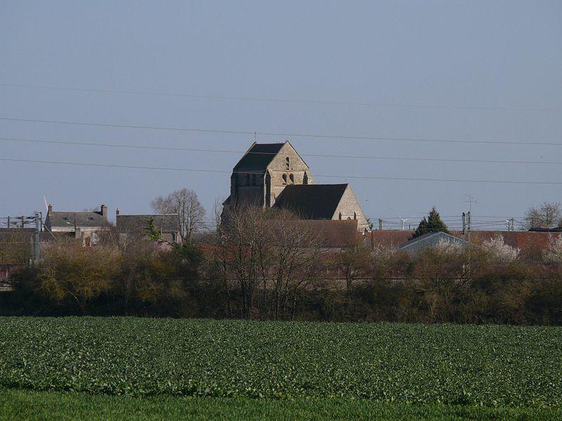 Saint-Georges-and-Saint-Gilles' church of Santeuil (Eure-et-Loir, Centre, France).