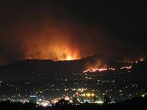 Santiago Fire - Image: Santiago Fire From AV