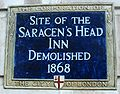 Saracen's Head Inn plaque London.jpg