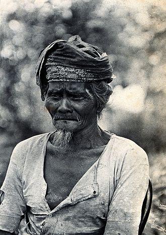 Bidayuh - Image: Sarawak; a native Land Dayak chief. Photograph. Wellcome V0037472