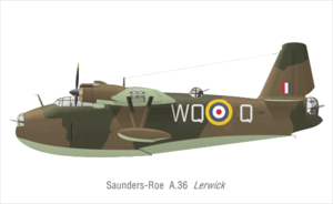 Saunders-Roe A.36 Lerwick - Lerwick in the markings of 209 squadron