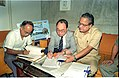 Saroj Ghose And Goto Executive Signing MOU Of Goto GSS-Helios And Astrovision-70 Projection System For Science City - NCSM - Calcutta 1995-06-15 241.JPG