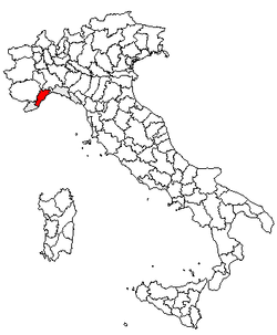 Location of Province of Savona