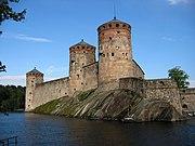 Castillo de Olavinlinna en la ciudad de Savonlinna