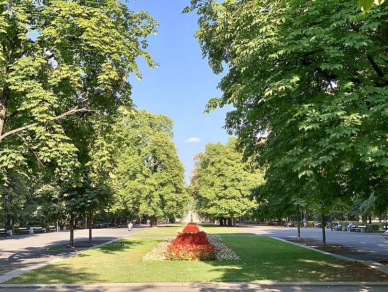 Saxon Garden, Warsaw, Poland