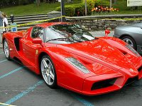 An Enzo Ferrari, named for the firm's founder.