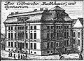 Schleuen - Cöllnische Rathaus und Gymnasium 1757.jpg