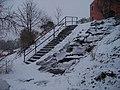 Schody ke Kyjskému rybníku z ulice Za školou.jpg
