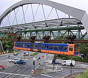 The Schwebebahn Wuppertal, the world's first suspended monorail