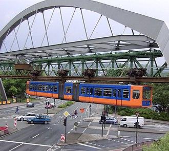 Wuppertal - The Schwebebahn in Wuppertal-Elberfeld