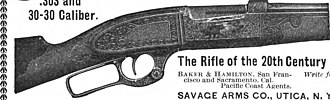 Savage Arms - The Savage 99 in Scientific American Volume 85 Number 10 (September 1901)