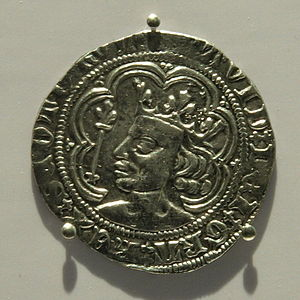 Convention of Royal Burghs - A groat from the reign of David II in the 14th century. Burghs were expected to pay their taxes in coin.