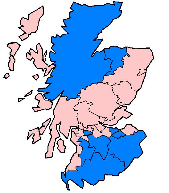 Scottish 1996 council areas flood damage July 24 2007