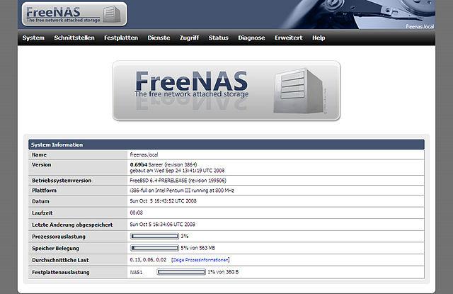 c52eaba2928 File Screenshot freenas v.0.69b4.jpg - Wikimedia Commons