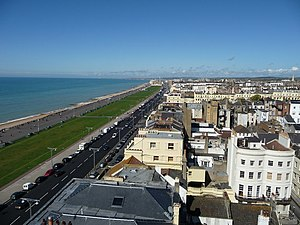 Hove - Image: Sea front view of Hove from top of building in Brighton geograph.org.uk 1504722