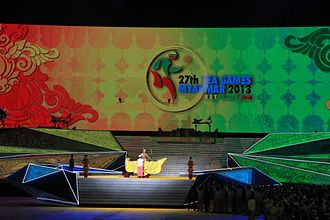 2013 Southeast Asian Games - 27th SEA Games opening ceremony at Wunna Theikdi Stadium in Naypyidaw