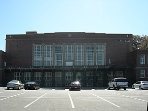 Lincoln High School (Seattle) - North side of building in 2007