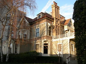 First Hill, Seattle - The University Club, in the former Stacy House at the corner of Boren and Madison on First Hill. One of the remaining handful of the grand houses that once characterized the neighborhood.