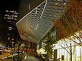 Seattle Public Library main branch night, 4th Avenue.jpg