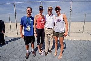 Kerri Walsh Jennings - Walsh with April Ross and John Kerry