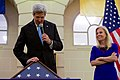 Secretary Kerry Touches a Flag Flown at Normandy, France (31387628832).jpg