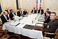 Secretary Kerry and Advisers Sit With Iranian Foreign Minister Zarif in Austria Before Resuming Nuclear Program Negotiations.jpg