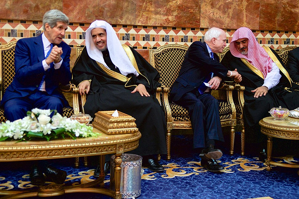 Secretary Kerry and Senator McCain Chat With Members of the Saudi Royal Family
