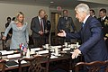 Secretary of Defense Chuck Hagel hosted an honor cordon to welcome Dutch Minister of Defense Jeanine Hennis-Plasschaert at the Pentagon (3).jpg