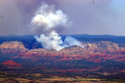 The Brins fire of 2006 Sedona Brins Fire 2006.jpg