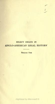Select Essays in Anglo-American Legal History, Volume 1.djvu