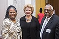 Senator Stabenow greets with constituents at the Congressional Black Caucus breakfast. (29683900152).jpg