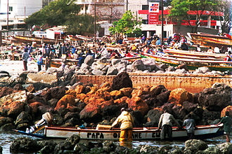 Médina, Dakar - The market of Soumbedioun