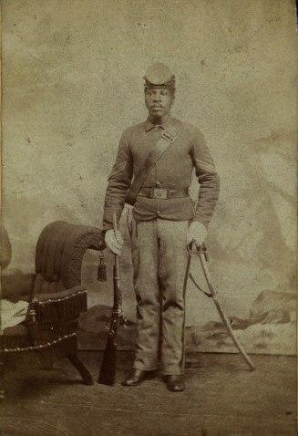 Sergeant John Harris, 10th United States Cavalry Regiment (cropped)