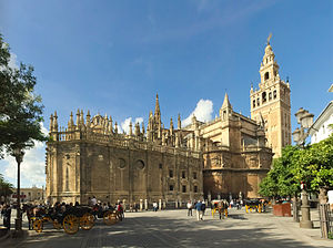 Seville Cathedral - View of the southeastern side of the Cathedral