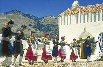 Greek folk music - Cretan dancers.