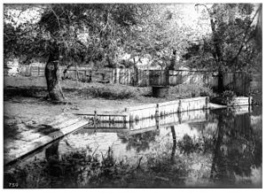 Rancho Guajome - Image: Sheep wash place at Guajome Ranch, ca.1890 1901 (CHS 750)