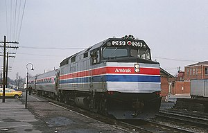Shenandoah (Amtrak train) - The Shenandoah at Gaithersburg in 1978