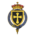 Shield of Arms of Henry Lascelles, 6th Earl of Harewood, KG, GCVO, DSO, TD, JP, DL.png