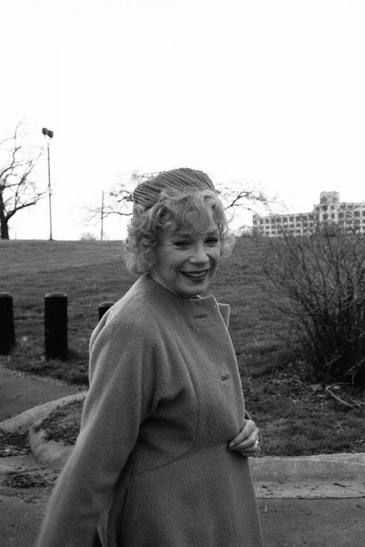 Shirley Mclaine on a movie set