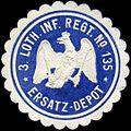 Siegelmarke 3. Lothringisches Infanterie Regiment No. 135 - Ersatz - Depot W0223980.jpg