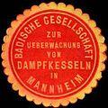 Siegelmarke Badische Gesellschaft zur Ueberwachung von Dampfkesseln in Mannheim W0227232.jpg