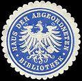 Siegelmarke Haus der Abgeordneten - Bibliothek W0235523.jpg